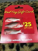 A&P Atlantic & Pacific Tea Company Waldbaums Red Tag Gift Card Brand New Vintage