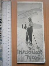 1934 Innsbruck TYROL AUSTRIA SPORT SKI SKIING BROCHURE INTERNATIONAL WINTERSPORT
