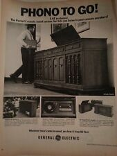 1948 General Electric Phone To Go The Porta Fi Sound System Original Ad
