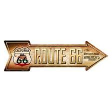 Outdoor/Indoor Route 66 California Highway Shield Novelty Metal Arrow Sign 5x17