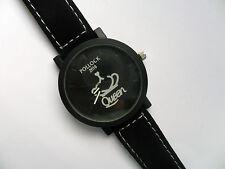 Very Smart QUEEN Quartz Watch Black Suede Strap