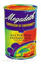 MG20 MEGADETH CORROSION OF CONFORMITY Silkscreen Poster M.Getz 1995 Signed Mint