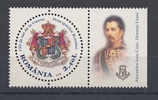 2009 Rumänien Romania, Unirea Principatelor, MNH, insignia, history, label, Cuza