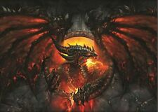 FIRE DRAGON RUNE CIRCLE RED POSTER PICTURE WALL ART PRINT A3 AMK2405