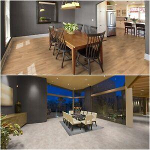 Vinylboden PVC Bodenbelag Holz oder Marmor Optik 3m und 4 m Breite 9,99 €/m²