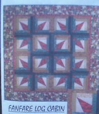 "Fan Fare Log Cabin Quilt Fabric Kit - 59"" x 59"""