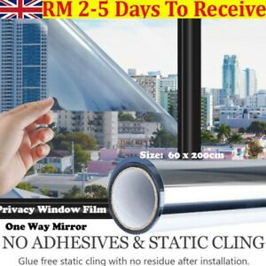One Way Mirror Window-Film Reflective Home Privacy Solar Tint Foil Glass Sticker