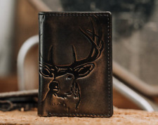 Men's Leather Wallet Trifold PERSONALIZED Wallet