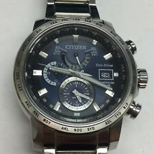 Citizen Eco-Drive GN-4W-S-12G Radio Controlled World Time Watch Stainless Steel