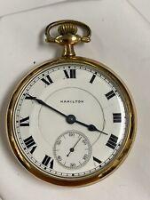Jewel Gold Filled Pocket Watch 1916 Hamilton 974 16 Size 17
