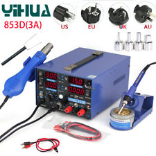 YIHUA 853D 3A USB Rework Soldering Station Preheating Solder Iron w/ Hot Air Gun