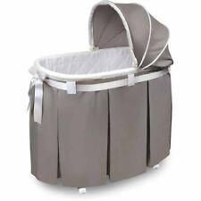 Baby Bassinet Cradle Bedside Crib Wheels Newborn Infant Rocker Nursery Furniture