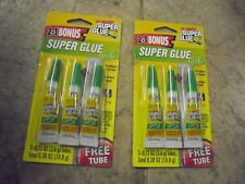 Super Glue GEL The Original Instant Bond Bonus Tubes 2packs of 3