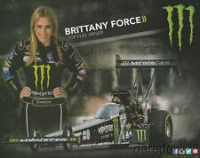"""2015 Brittany Force Monster """"2nd issued"""" Top Fuel NHRA postcard"""
