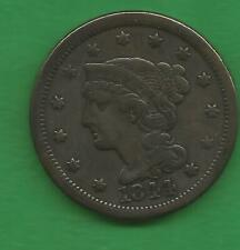 1844 BRAIDED HAIR LARGE CENT - 176 YEARS OLD!!!
