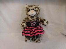 "Build A Bear Snow Leopard Cheetah Plush 16"" Sparkle Glitter with Outfit ANIMAL"