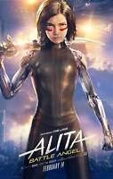 Y-166 Alita - Battle Angel Movie 2019 Robert Rodriguez Hot Fabric Poster 24x36