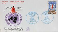 ENVELOPPE PREMIER JOUR - 9 x 16,5 cm - ANNEE 1971 - UNESCO PARIS