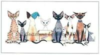 Devon Rex Cat art painting print large signed from original by Suzanne Le Good