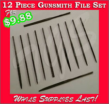 New 12 Piece Mini Needle File Set Very Fine- Perfect for Gunsmithing or Jewelry