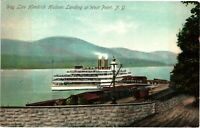 Vintage Postcard - 1909 Day Line Hendrick Hudson At West Point New York NY #3313