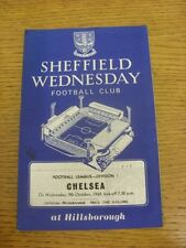 09/10/1968 Sheffield Wednesday v Chelsea  (Small Marks, Score Noted On Cover). C