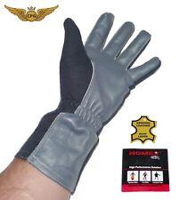 NOMEX Pilot, aviation, flight gloves - NAVY Dark blue