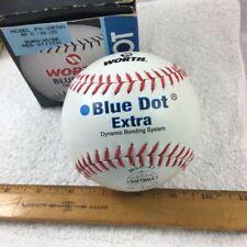 Nos Worth Blue Dot Official Softball Px-2Rsa Dura-Hyde Red Stitch No Dead Spots