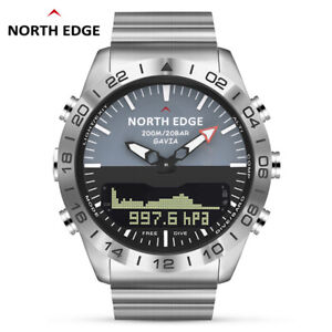 North Edge Gavia 2 Dive Sports Digital watch Military Army Luxury Full Steel