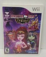 Monster High: 13 Wishes - Nintendo Wii Wii U Game Working  Tested