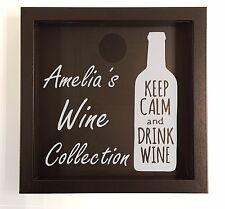 Personalised Wine cork holder, wine cork collection, wine cork shadow box