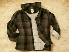 Timberland Insulated Primaloft Sport Pea Coat. Grey Checks Plaid. Men's Medium M