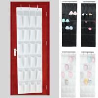 24 Pocket Over Door Hanging Shoe Rack Organizer Boot Tidy Storage Hanger Ba K9P4