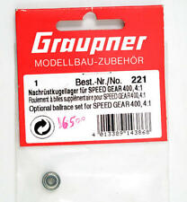 Graupner 221 Cuscinetto Optional Ballrace Set for Speed Gear 400 4:1 modellismo
