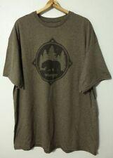 b6ab2d84 Wrangler Rugged Wear Bear Logo S/s T-shirt Men's Size XXL Heather Brown