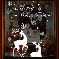 Christmas Reindeer Mural Removable Wall Stickers Vinyl Decals Shop Window Decor