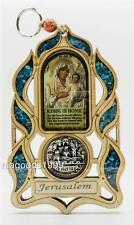Home Blessing Icon Madonna Silver Jerusalem Embossment Poplar Frame Holy Land