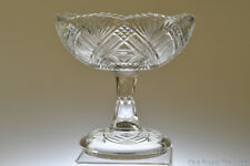 """c. 1894 TACOMA by Greenburg / McKee Bros. CLEAR 7 1/2"""" W Open Compote"""