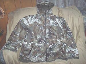 Mens Large Scentinel Jacket Strata Camo Hunting Jacket Waterproof Rain Jacket