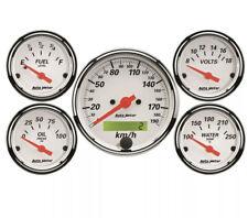 Autometer Arctic White AU1302-M Gauge Kit Set of 5 Hot Rod Street Machine