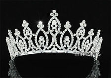 Bridal Pageant Beauty Contest Sparkling Tiara Round Crystal Crown AT1802