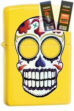 Zippo 24894 skull day of the dead Lighter with *FLINT & WICK GIFT SET*