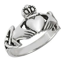 Sterling Silver Ladies Claddagh Ring Size 8