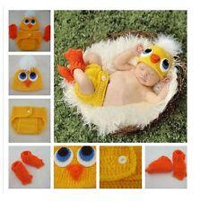 Newborn Baby Bird Hat Diaper Cover & Booties Crochet Set Photo Prop 0-9 mos