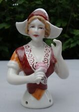 Teepuppen Hollanderin Half Doll Pincushion Arms Away Art Deco Stil Art Nouveau J