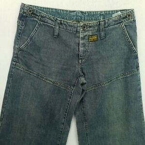 G-Star Raw WOOD Womens BAGGY LOOSE Jeans Low Rise W30 L33 Blue Relaxed Flared