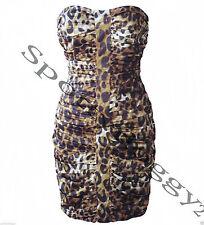 LIPSY - BNWT BROWN BLACK LEOPARD PRINT DRESS - Sz 8