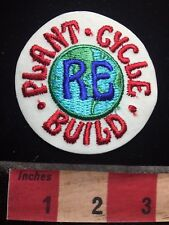 Vtg Eco Friendly Environment Patch RE-BUILD RE-CYCLE RE-PLANT 77GG