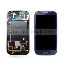 Blue Samsung Galaxy S3 i747 T999 LCD & Touch Screen w/ Frame Assembly NO LOGO