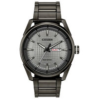 Citizen Eco-Drive CTO Men's Date Calendar Gray Dial Band 42mm Watch AW0087-58H